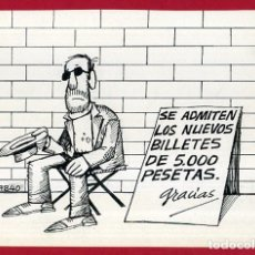 Cómics: DIBUJO ORIGINAL PLUMILLA , EDO MOSQUERA EDGAR , VIÑETA COMICA GRANDE , ORIGINAL , M4B , 44. Lote 148653502