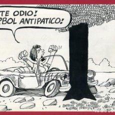 Cómics: DIBUJO ORIGINAL PLUMILLA , EDO MOSQUERA EDGAR , VIÑETA COMICA GRANDE , ORIGINAL , M4B , 46. Lote 148653626