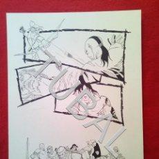 Cómics: TUBAL FARO MIGUEZ DIBUJO ORIGINAL GRAN TAMAÑO COMIC ARTISTA DIBUJANTE SEVILLANO SEVILLA. Lote 149249578