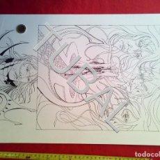 Cómics: TUBAL FARO MIGUEZ DIBUJO ORIGINAL GRAN TAMAÑO COMIC ARTISTA DIBUJANTE SEVILLANO SEVILLA. Lote 149250874
