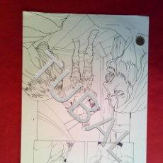 Cómics: TUBAL FARO MIGUEZ DIBUJO ORIGINAL GRAN TAMAÑO COMIC ARTISTA DIBUJANTE SEVILLANO SEVILLA. Lote 149251202