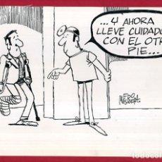 Cómics: DIBUJO ORIGINAL PLUMILLA , EDO MOSQUERA EDGAR , VIÑETA COMICA GRANDE , ORIGINAL , M4B , 32. Lote 150256366