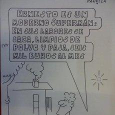 Cómics: MODERNO SUPERMAN. DIBUJO ORIGINAL DE PAÑELLA. PUBLICDO EN LECTURAS O SIMILAR. 30 X 21 CTMS.. Lote 150363134