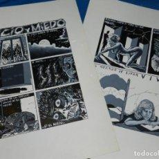 Cómics: (BD) DIBUJO ORIGINAL DE ALFREDO PONS - VICIO Y MIEDO , 2 PAG, HISTORIA COMPLETA. Lote 150474850