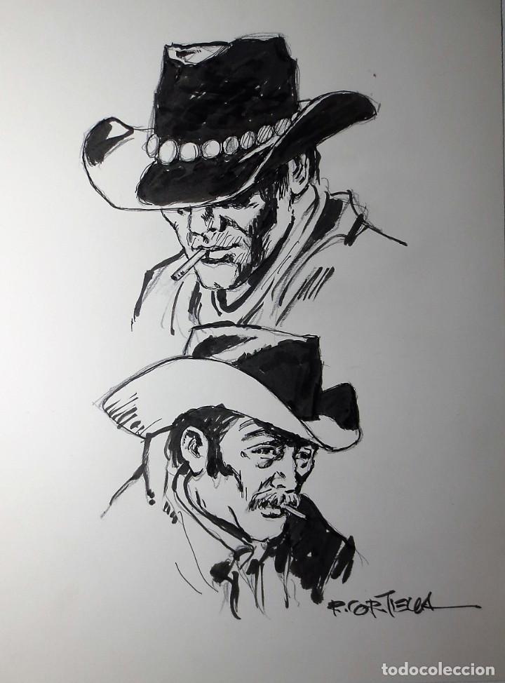 DIBUJO ORIGINAL OESTE CORTIELLA (Tebeos y Comics - Art Comic)
