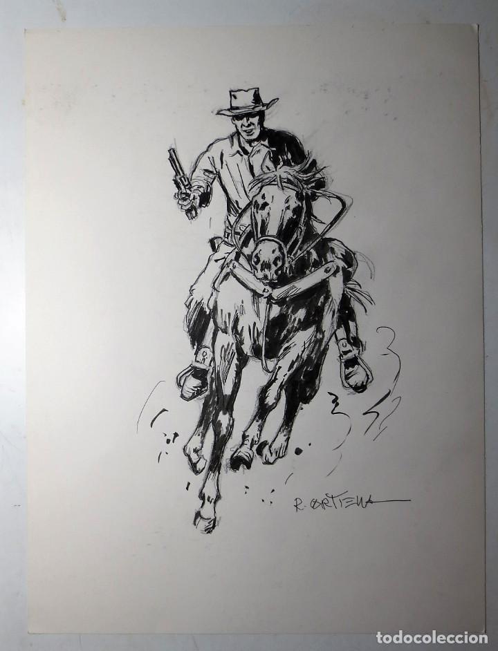DIBUJO ORIGINAL OESTE BOLSILIBRO CORTIELLA (Tebeos y Comics - Art Comic)