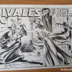 Cómics: EL REY DEL MAR Nº 37, COMPLETO: PORTADA, PRUEBA DE COLOR Y 10 PÁGINAS. PLANCHAS ORIGINALES.. Lote 151068862