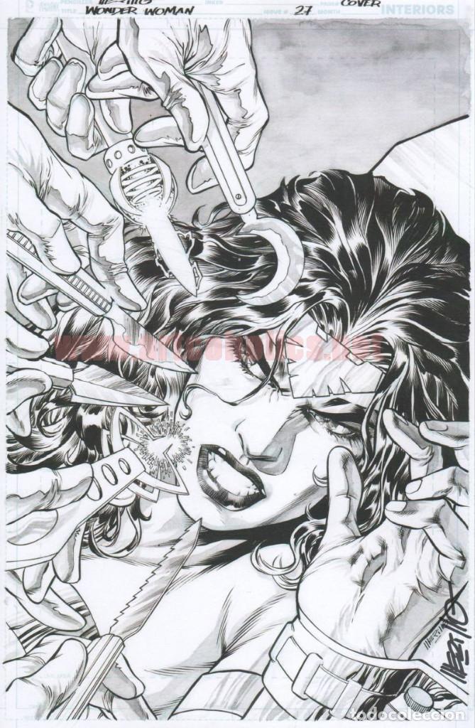 JESÚS MERINO LÁMINA FIRMADA : PORTADA WONDER WOMAN 27 (Tebeos y Comics - Art Comic)