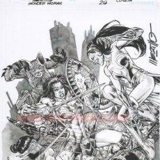 Cómics - Jesús Merino Lámina FIRMADA : Portada Wonder Woman 29 - 151106066