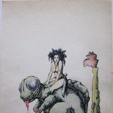 Cómics: GALLARDO CARULLA. DIBUJO ORIGINAL. FIRMADO 1976. Lote 152247586