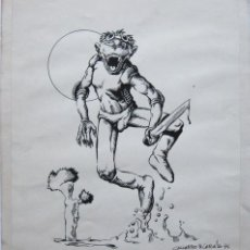 Cómics: GALLARDO & CARULLA. DIBUJO ORIGINAL. FIRMADO. 1976. Lote 152247802