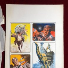 Cómics: PLANCHA ORIGINAL PORTADA LOPEZ ESPI VERTICE VOL.1 VOLUMEN 1 SELECCIONES VERTICE Nº 85 1971 JOYA !!. Lote 152671574