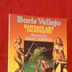 Cómics: BORIS VALLEJO FANTASY ART TECHNIQUES - BORIS VALLEJO - ED. PAPER TIGER - ILUSTRACIONES - RUSTICA. Lote 152717430