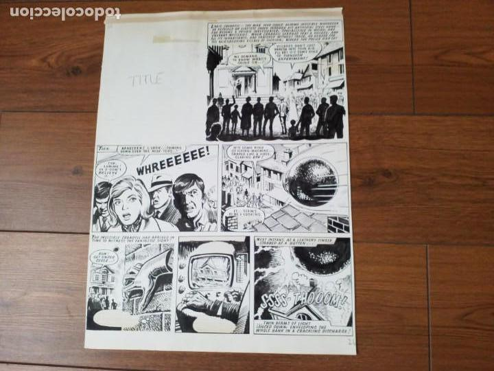 Cómics: DIBUJO ORIGINAL ZARPA DE ACERO JESÚS BLASCO - Foto 2 - 155448566