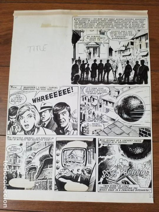 PLANCHA DIBUJO ORIGINAL ZARPA DE ACERO (Tebeos y Comics - Art Comic)