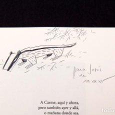 Cómics: MAX - ORFICAS - CON DIBUJO DE MAX. Lote 155962302