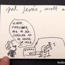 Cómics: TONI BATLLORI - POBRES ABUELOS - CON SIBUJO DELA AUTOR. Lote 155968846
