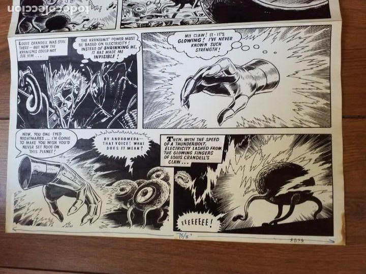Cómics: DIBUJO ORIGINAL ZARPA DE ACERO JESÚS BLASCO 1965 VÉRTICE - Foto 3 - 156699574