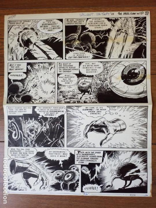 DIBUJO ORIGINAL ZARPA DE ACERO JESÚS BLASCO 1965 VÉRTICE (Tebeos y Comics - Art Comic)