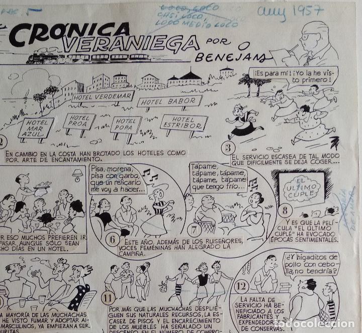 ¡¡¡ REBAJADO !!! ORIGINAL DE BENEJAM DEL AÑO 1957. GRAN TAMAÑO (Tebeos y Comics - Art Comic)