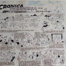 Cómics: ¡¡¡ REBAJADO !!! ORIGINAL DE BENEJAM DEL AÑO 1957. GRAN TAMAÑO. Lote 156712262