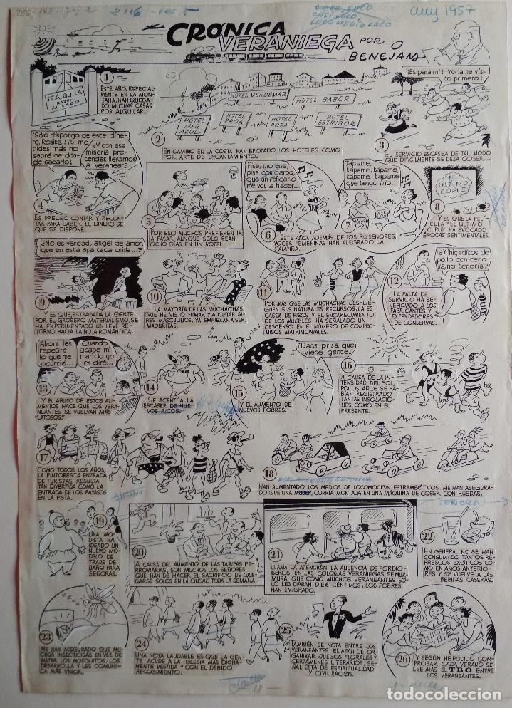 Cómics: ¡¡¡ REBAJADO !!! Original de BENEJAM del año 1957. Gran tamaño - Foto 2 - 156712262