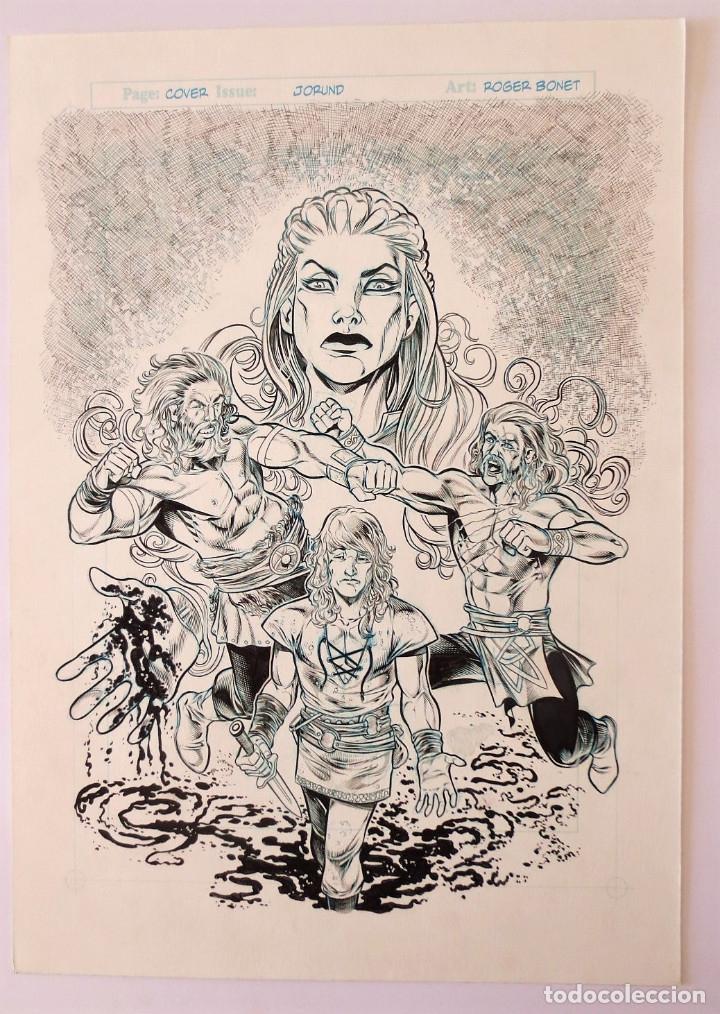 PORTADA ORIGINAL ROGER BONET (Tebeos y Comics - Art Comic)