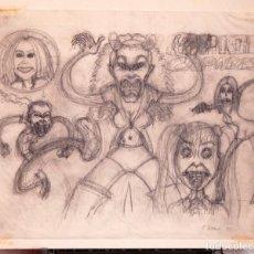 Cómics: PETER BAGGE - SKETCH PORTADA SPICE GIRLS - 1998. Lote 157357866