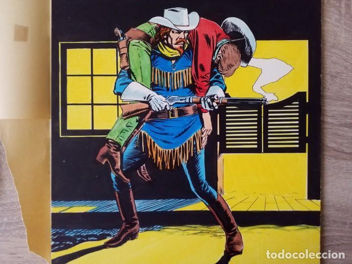 DIBUJUO PORTADA ORIGINAL DE RAFAEL LOPEZ ESPI BUFFALO BILL Nº 9 VÉRTICE (Tebeos y Comics - Art Comic)