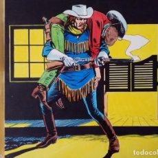 Cómics: DIBUJUO PORTADA ORIGINAL DE RAFAEL LOPEZ ESPI BUFFALO BILL Nº 9 VÉRTICE. Lote 157729710