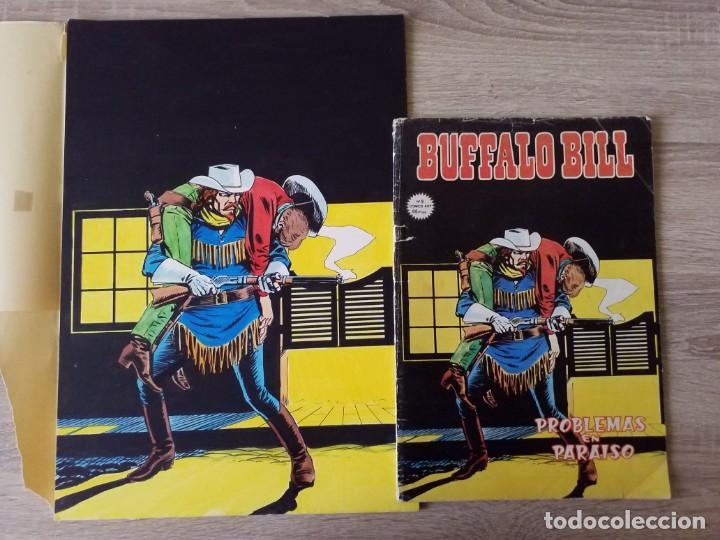 Cómics: DIBUJUO PORTADA ORIGINAL DE RAFAEL LOPEZ ESPI BUFFALO BILL Nº 9 VÉRTICE - Foto 2 - 157729710