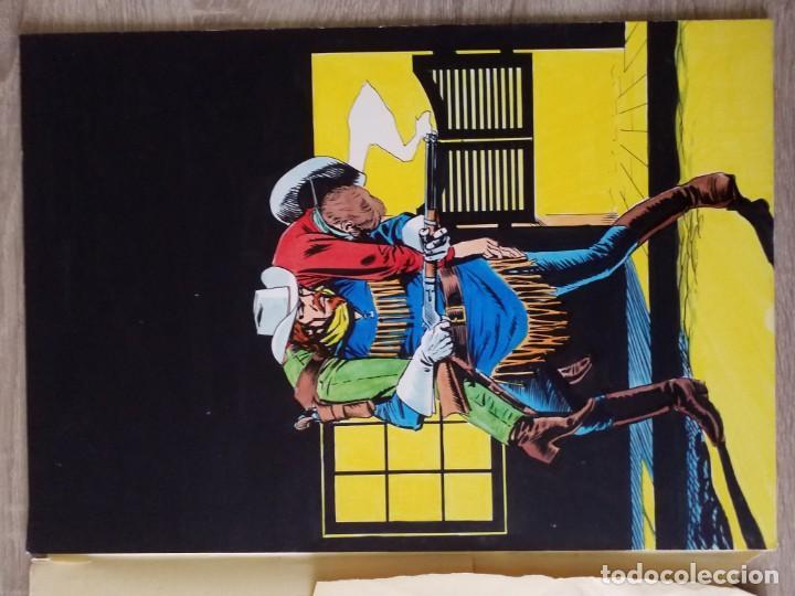 Cómics: DIBUJUO PORTADA ORIGINAL DE RAFAEL LOPEZ ESPI BUFFALO BILL Nº 9 VÉRTICE - Foto 3 - 157729710