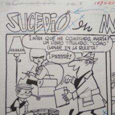 Cómics: ¡¡¡REBAJADO!!! ORIGINAL DE ARTURO MORENO PUBLICADO EN TBO NUMERO 424. Lote 157932382