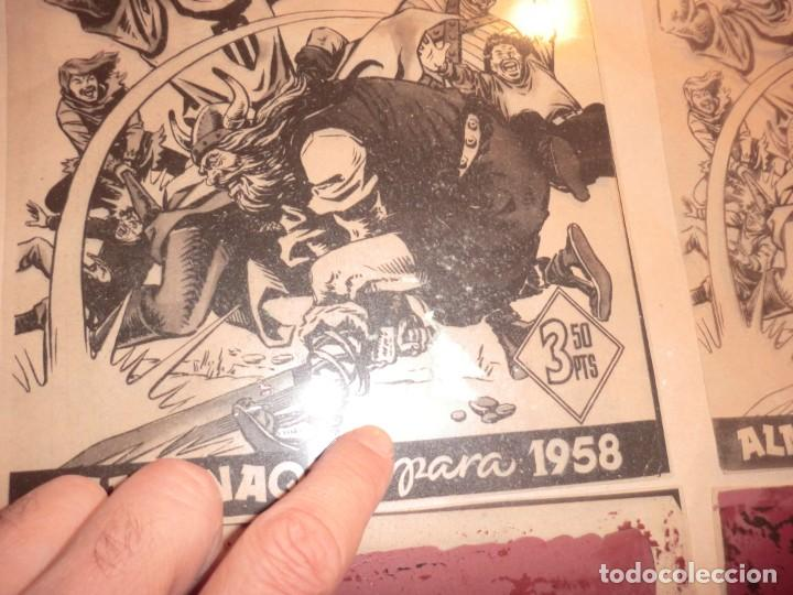 Cómics: FOTOMECANICA DE ESTE EJEMPLAR ALMANAQUE CAPITAN TRUENO 1958,( SOLO PORTADAS) - Foto 2 - 158609126