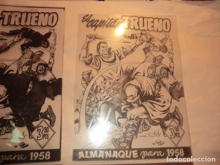 Cómics: FOTOMECANICA DE ESTE EJEMPLAR ALMANAQUE CAPITAN TRUENO 1958,( SOLO PORTADAS) - Foto 3 - 158609126