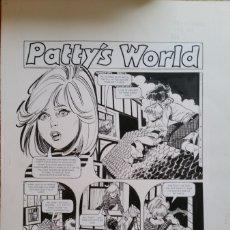 Cómics: PAGINA ORIGINAL. ESTHER Y SU MUNDO (PATTY'S WORLD 1980'S) DE PURITA CAMPOS. Lote 159382500