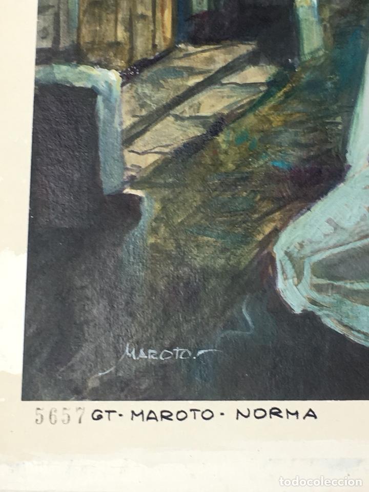 Cómics: (M) DIBUJO ORIGINAL DE ESTEBAN MAROTO , PORTADA DE TERROR , EDT. NORMA 47x35 CM - Foto 6 - 159405957