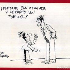 Fumetti: DIBUJO ORIGINAL PLUMILLA , EDO MOSQUERA EDGAR , VIÑETA COMICA GRANDE , ORIGINAL , M4B , 18. Lote 159517570