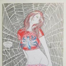 Cómics: DIBUJO ORIGINAL SPIDERMAN MARY JANE DE ALISON LIMA. Lote 160432014