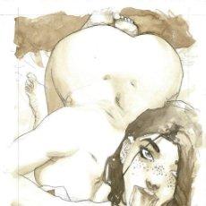 Cómics: SERGIO BLEDA. ILUSTRACION ORIGINAL SEXY GIRL IN THE MORNING. Lote 160535186