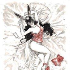 Fumetti: SERGIO BLEDA. ILUSTRACION ORIGINAL SEXY BUNNY - (2016). Lote 160535466