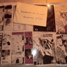 Cómics: FOTOMECANICA (ALMANAQUE, EL DEFENSOR DE LA CRUZ 1957) ,SIN INTERIORES , SOLO PORTADAS+LAMINA HUMOR. Lote 160931654