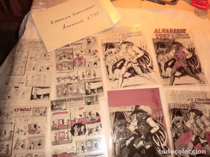 FOTOMECANICA EL ESPADACHIN ENMASCARADO ,ALMANAQUE 1957,( SOLO PORTADAS) (Tebeos y Comics - Art Comic)