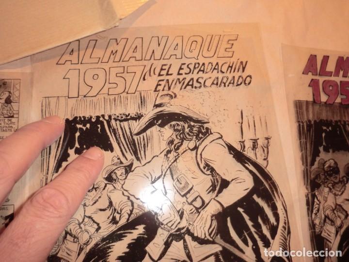 Cómics: FOTOMECANICA EL ESPADACHIN ENMASCARADO ,ALMANAQUE 1957,( SOLO PORTADAS) - Foto 3 - 160932602
