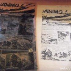 Cómics: COMICS ART, -ANIMO- W .WAR 2- EDICIÓN COMPLETA. LAINEZ 1960- CELULOIDE COMICS IMPRECION. Lote 161838918