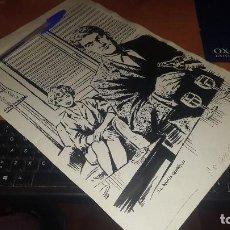 Cómics: DIBUJO ORIGINAL DE J. L. GARCIA QUIROS, 34 X 23 CM.. Lote 161977038