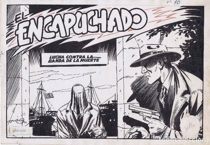 ¡¡¡REBAJADO!!! PORTADA ORIGINAL DE EL ENCAPUCHADO DE BLASCO (Tebeos y Comics - Art Comic)