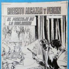 Cómics: DIBUJO ORIGINAL PLUMILLA, PORTADA ROBERTO ALCAZAR Y PEDRIN EXTRA Nº 52 , ORIGINAL, M5. Lote 164573778