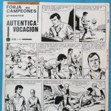 Cómics: DIBUJO ORIGINAL PLUMILLA, AUTENTICA VOCACION , FUTBOL, FORJA DE CAMPEONES , 4 HOJAS , ORIGINAL, M5. Lote 164574402