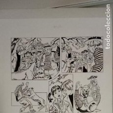 Cómics: ORIGINAL TINTA CARLOS FREIXAS FIRMADO 51 X 35 PERFECTO. Lote 165069222